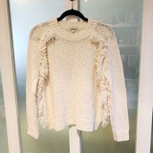 Madewell Loop edge Fringe knit pull over sweater